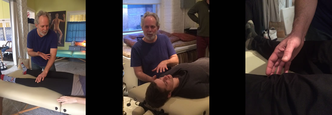 photo of instructor and student in Shiatsu certification program