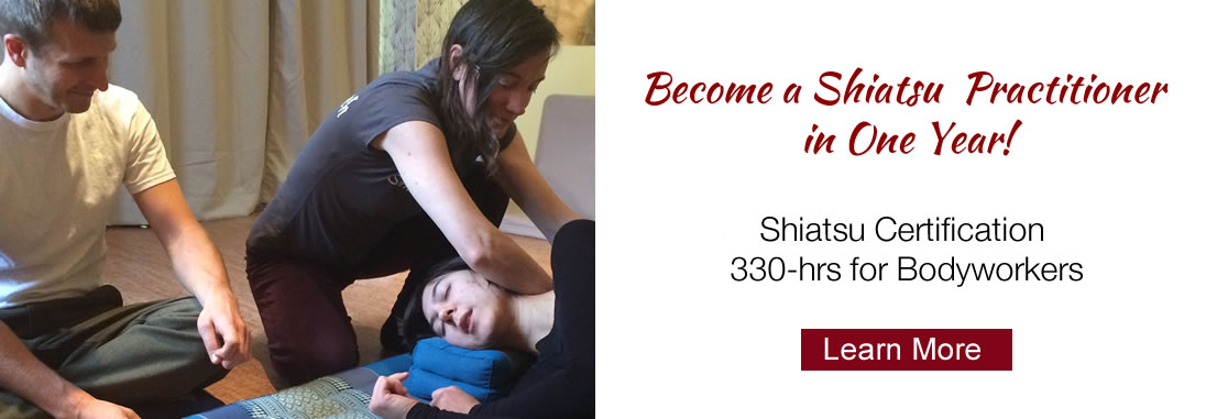 photo of student with instructor in Shiatsu certification program